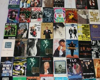 Lot of 50  80s-90s Cassette Singles