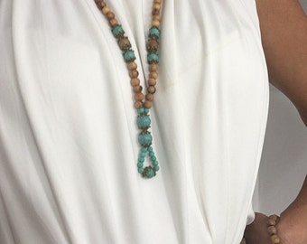 mala women howlite turquoise necklace