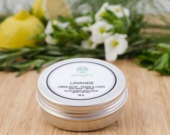 Lavender cream rich face & body
