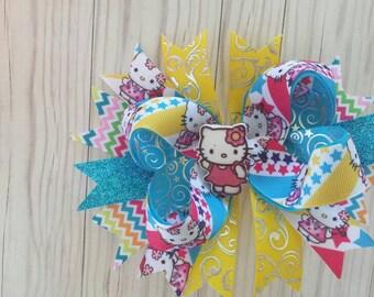 Hello Kitty over the top hair bow