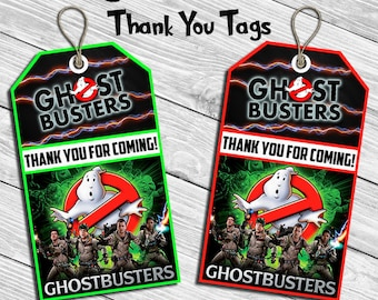Ghostbusters Birthday Party Thank You Tag * Thank You Card * Favor Tag * Digital Printable Instant Download File