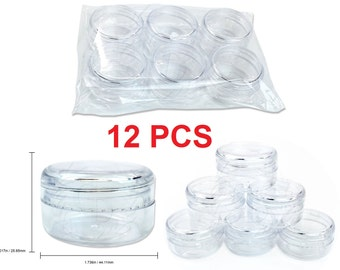 12Pcs High Quality Lip Balm Lotion Cream Sample Jar Containers (15 Gram/1/2oz)
