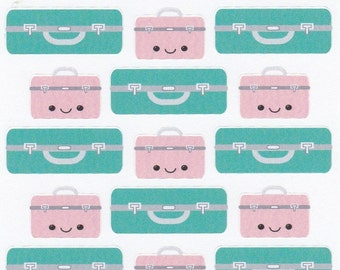 Kawaii Suitcase Planner Stickers