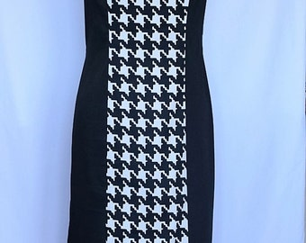 SALE - Houndstooth Panel Dress - Size 12