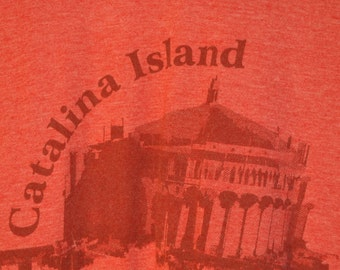Vintage 90s Red Catalina Island Polyester and Cotton Sz M