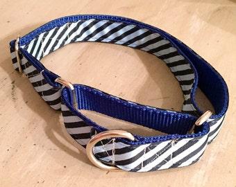 Blue Stripe Dog Collar