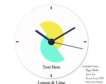 Personalized Wall Clock - Modern