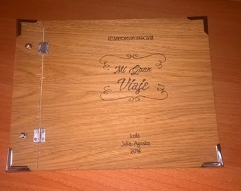 Album photo personalized for pyrography