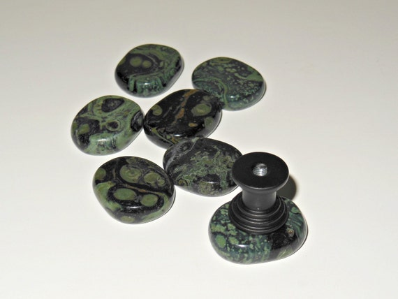 Stone Knobs Small Cabinet Knobs Kambaba Jasper