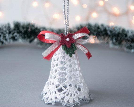 Items similar to crochet christmas bell crochet christmas ornament christmas tree decoration - Decoration au crochet ...