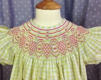Smocked Bishop Dress. Size 3T