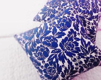 decorative pillows, throw pillows, blue floral, accent pillow