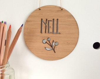 Personalised Wooden Wall / Door Hanging