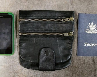 Kangaroo Leather Multi-Wallet Belt Pouch