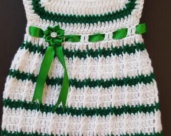 Hand made Crochet baby dress