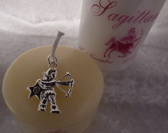 3 Inch - Zodiac Candle with Strengths, Weaknesses, Like & Dislikes - Sagittarius