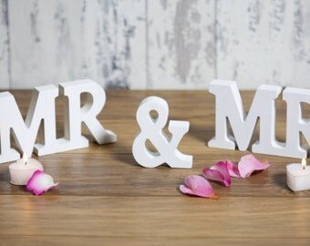 Mr and Mr Decorative Wooden Letters