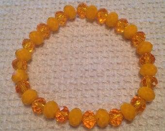 Mandarine (Orange Handmade Beaded Bracelet)
