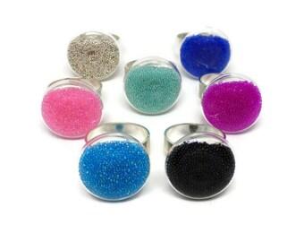 Glass Ring, Statement Ring, Handmade Ring, Gifts For Women, Birthday Gift, Christmas Gift, Secret Santa, Stocking Filler, Ring Candy Rings