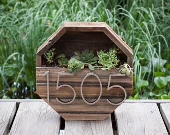 Octagon Succulent Address Planter