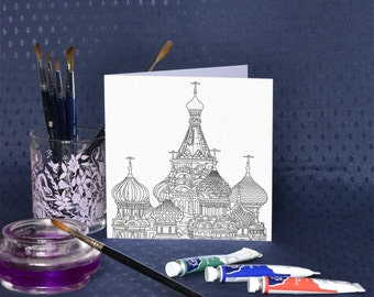St Basil's Moscow Greetings Card