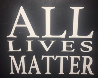 ALM Decal- blue, black, white, red *Proceeds will be donated to Dallas Victims