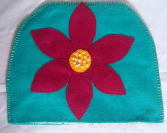 Magenta flower Tea-Cosy