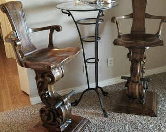 Handcarved bar stools