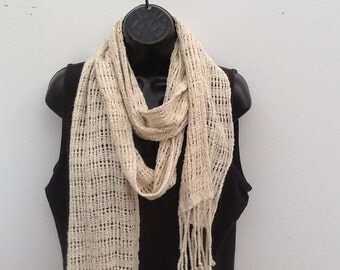 Lacy cotton scarf