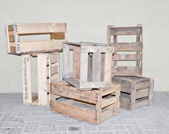 Wooden wine box shabby