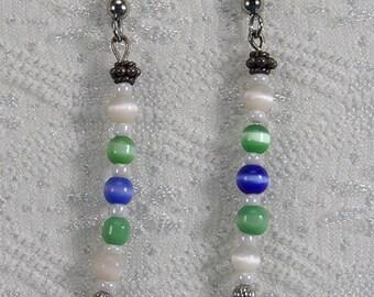 Dangle Bead Earrings #207