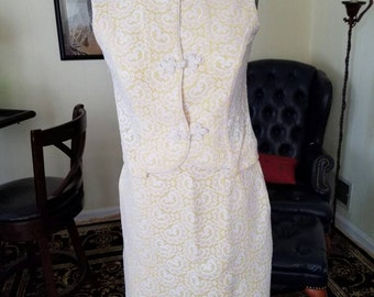 Adorable vintage lace summer pencil skirt and top