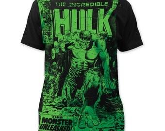 Incredible Hulk Monster Unleashed Subway Tee - SUBHK03(Black)