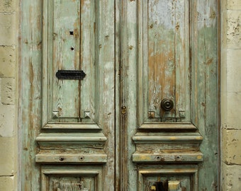 Rustic french door, Old antique door in France with lots of character.