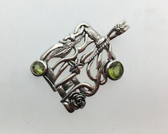 Peridot Sterling Silver Pendant