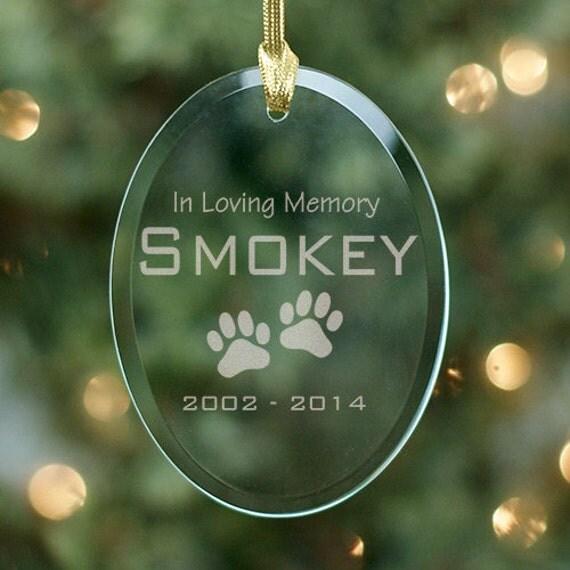 Personalized Dog Pet Memorial Ornament In Loving Memory Pet