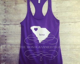 Womens Fitted Purple State Tank top