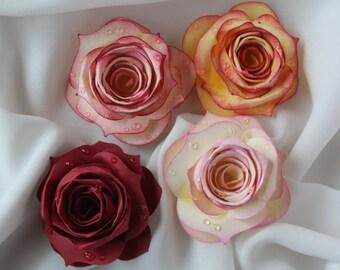 Raindrop Paper Roses/ Paper Roses/ paper flowers/ raindrop flowers/ dewdrop roses