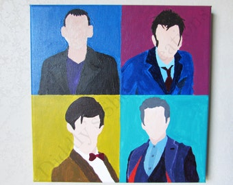 Doctor Who Hand-Painted Acrylic Painting