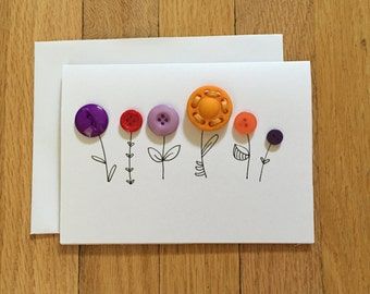 Colourful Button Flowers