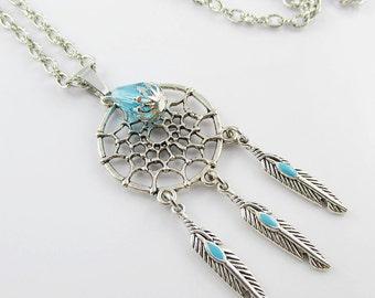 Dreamcatcher Sweater Necklace Charm Pendant Chain Necklace Dream Catcher 75cm