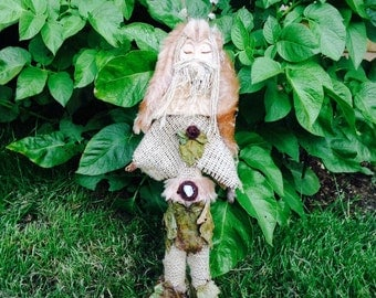 Cernunnos Spirit Doll - Horned God of the Forest, Pagan, Wiccan Deity