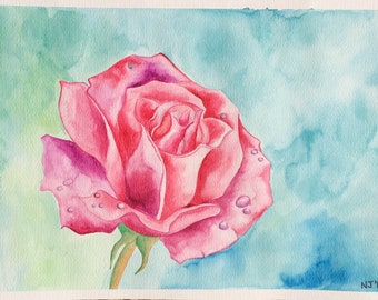 Rose in watercolours