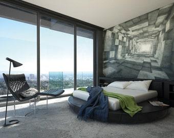 Photo Wallpaper Wall Mural for Bedroom Decor, Living Room Decor, Office or Dining Room - Blockwork Giant Wall Mural UK