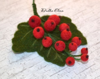 "Brooch ""Currant Twig"""