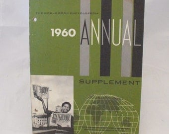 Vtg 1960 World Book Encyclopedia Annual Supplement Highlights 1959  (219)