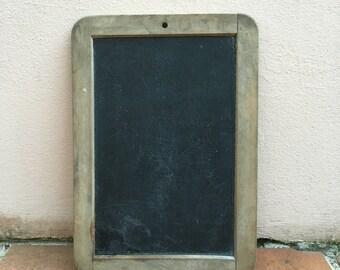 Vintage Childs blackboard,slate chalk board,old school house, french wood 12
