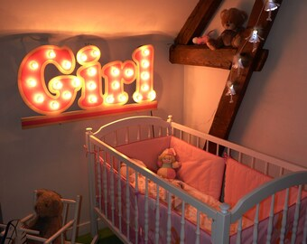 "Sign light ""Girl"" Just a Spark"