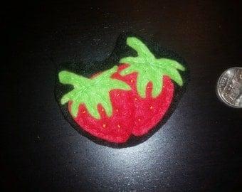 Strawberry Felt Pin