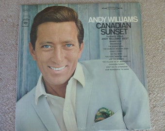 "Vintage LP vinyl Andy Williams ""Canadian Sunset"""